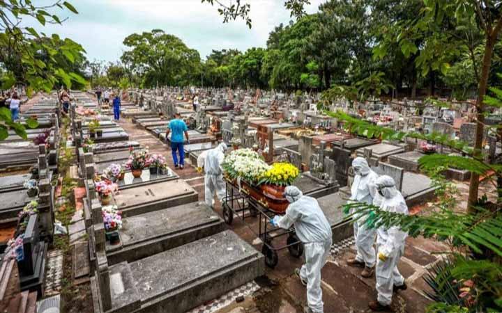 ব্রাজিলে এপ্রিলে করোনায় রেকর্ড সংখ্যক মৃত্যু
