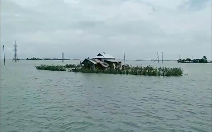 নেত্রকোনায় দুই উপজেলার নিম্নাঞ্চল প্লাবিত