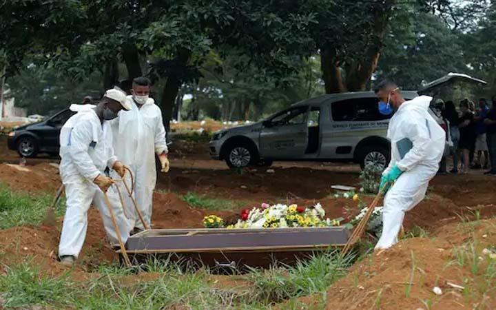 ব্রাজিলে করোনার এক দিনে ৪০০০ জনের মৃত্যু