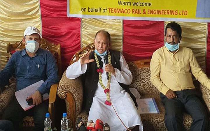 'আখাউড়া-আগরতলা রেলপথ নির্মাণের কাজ শেষ হবে মার্চে'